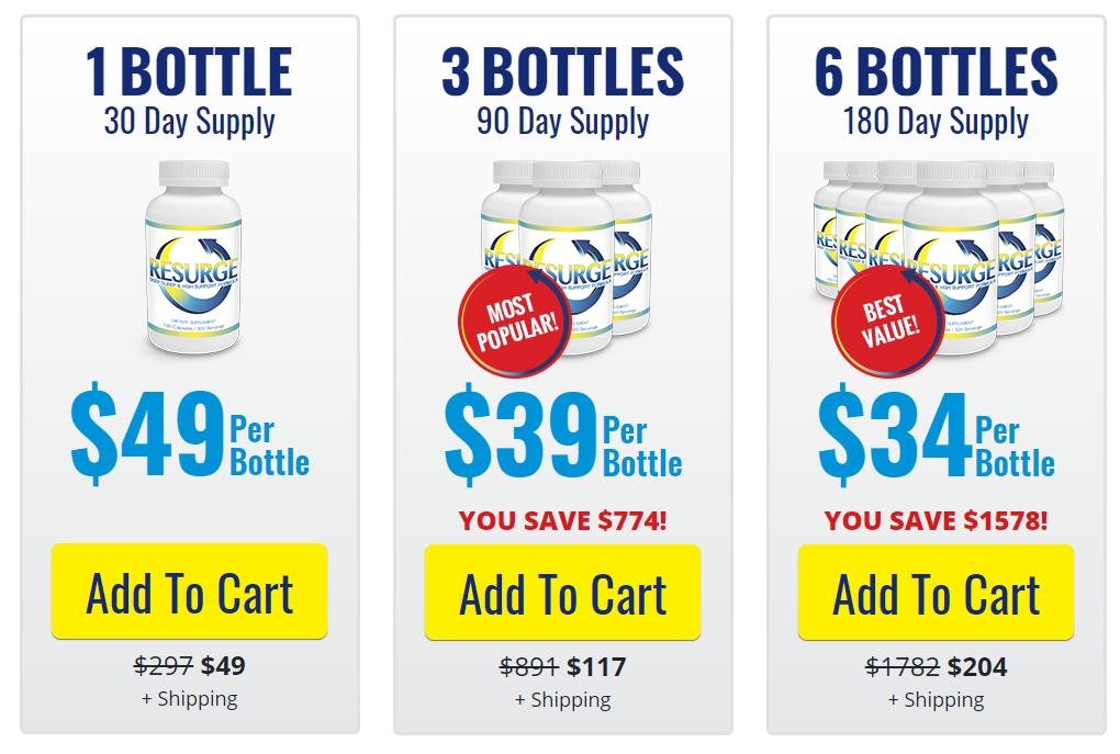 Resurge supplement bundle prices
